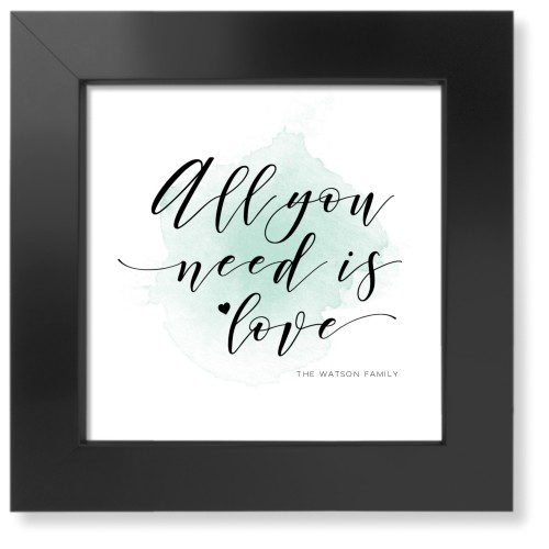 Favorite Quote Watercolor Art Print, Black, Pearl Shimmer Card Stock, 8x8, Green
