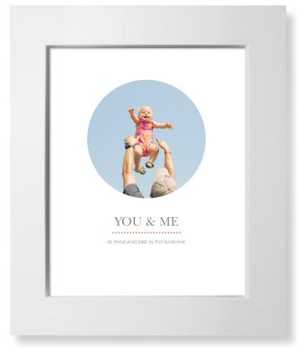 Modern Circle Art Print, White, Signature Card Stock, 8x10, White