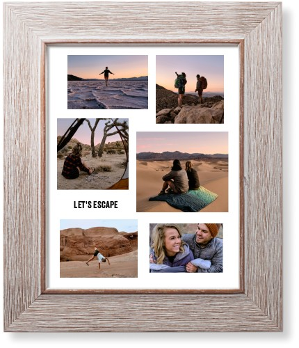 Modern Collage Of Six Art Print, Rustic, Signature Card Stock, 8x10, White
