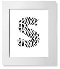 modern arrow print monogram art print