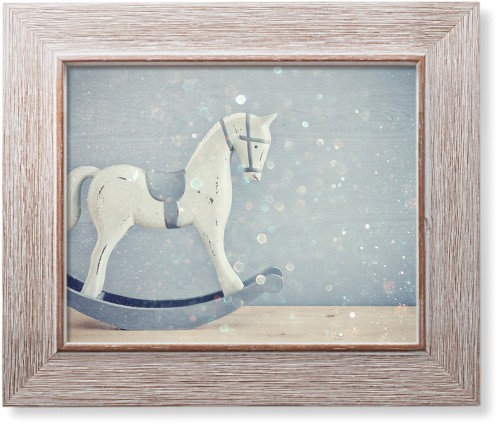 Wooden Rocking Horse Art Print, Rustic, Pearl Shimmer Card Stock, 8x10, Multicolor