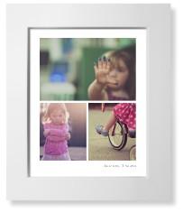 three prints collage art print