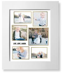 modern collage frames art print