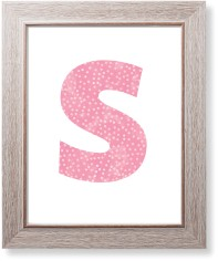 pink dots monogram art print