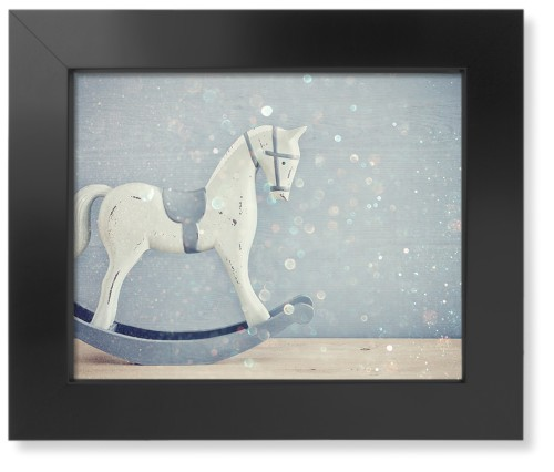 Wooden Rocking Horse Art Print, Black, Pearl Shimmer Card Stock, 11x14, Multicolor