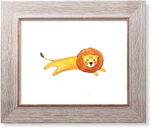Lion Watercolor Art Print, Rustic, Signature Card Stock, 11x14, Multicolor