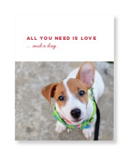 love and a dog gallery of one art print