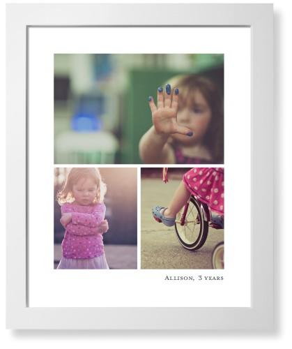 Three Prints Collage Art Print, White, Pearl Shimmer Card Stock, 16x20, White