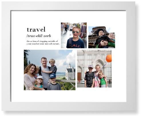Travel Collage Art Print, White, Signature Card Stock, 16x20, White