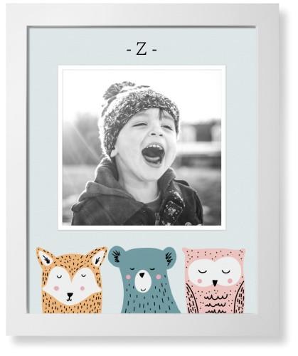 Adventure Animal Heads Art Print, White, Pearl Shimmer Card Stock, 16x20, Grey
