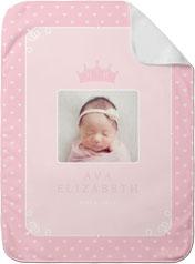 princess crown baby blanket