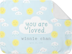 moon and stars you are loved baby blanket