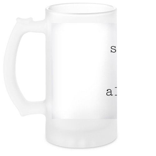 Perfect Pair Heart Beer Stein, White