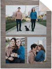 gallery of three fleece photo blanket