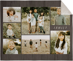 picture gallery collage of seven fleece photo blanket