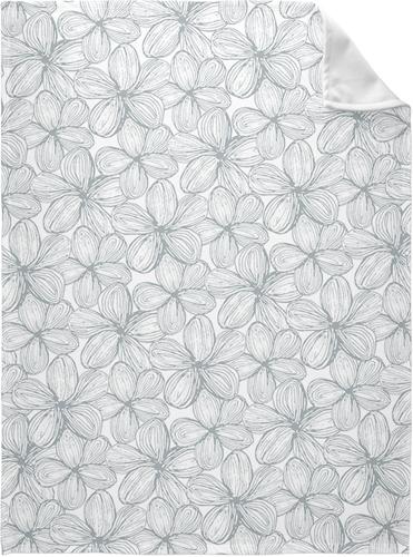 Grey Floral Fleece Photo Blanket, Fleece, 60 x 80, Multicolor