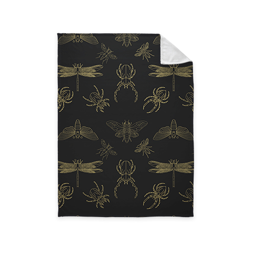 Insect Fleece Photo Blanket