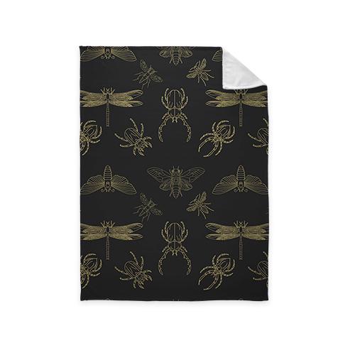 Insect Fleece Photo Blanket, Plush Fleece, 60 x 80, Multicolor