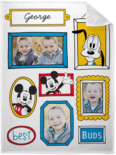 Disney Mickey And Friends Fleece Photo Blanket, Plush Fleece, 60 x 80, Blue