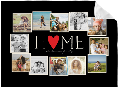 Home All Around Collage Fleece Photo Blanket