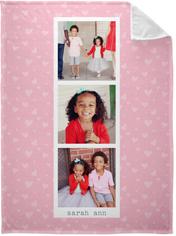 princess hearts filmstrip fleece photo blanket