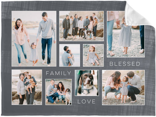 Family Love Blessed Collage Fleece Photo Blanket By Shutterfly