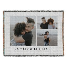 gallery of three landscape woven photo blanket