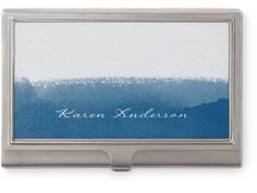 modern watercolor brush stroke business card holder