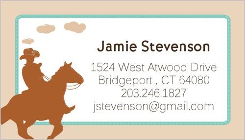 Cowboy Hero Calling Card