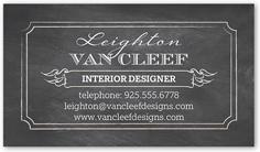 chalked expression calling card