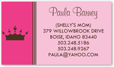 Mommy cards mommy calling cards mom business cards shutterfly pink princess colourmoves