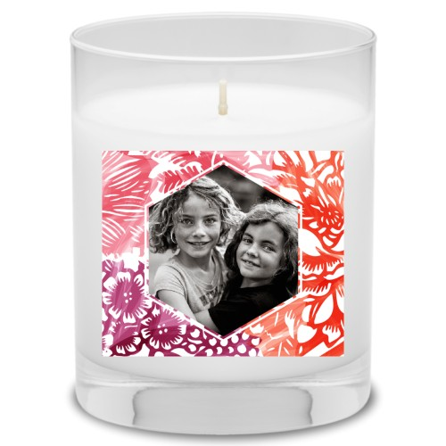 Floral Frame Candle, Ocean Breeze, Multicolor