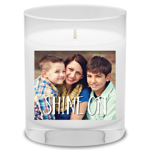 Shine On Candle, Uncscented, Multicolor