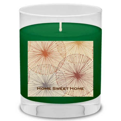 Dandelions Candle, Evergreen Forest, Multicolor