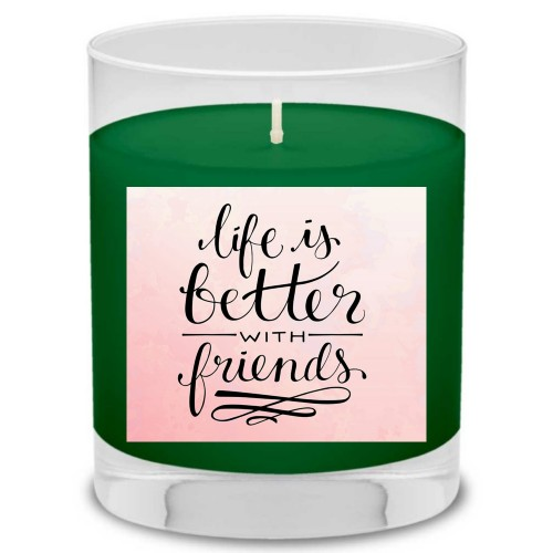 Life With Friends Candle, Evergreen Forest, Multicolor