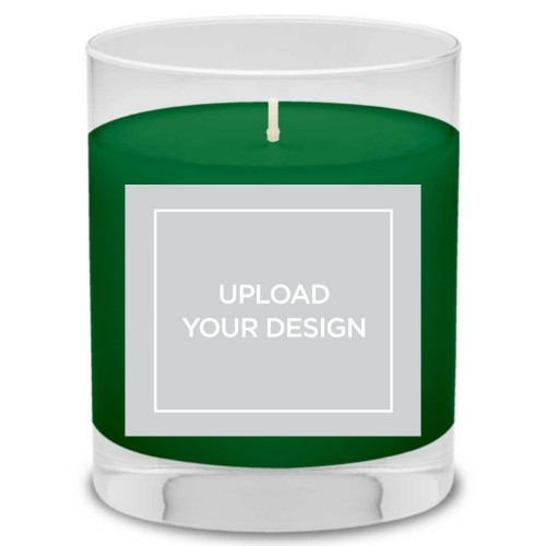 Upload Your Own Design Candle, Evergreen Forest, Multicolor