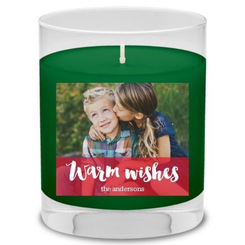 Warm Wishes Candle, Evergreen Forest, Red