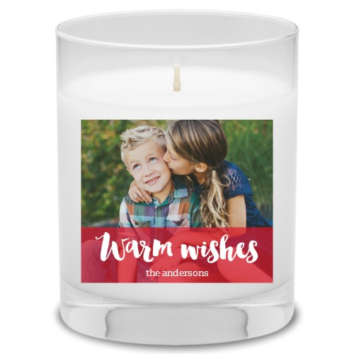 Warm Wishes Candle, Grapefruit Blossom, Red