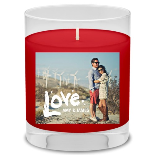 Full of Love Candle, Fireside Spice, White