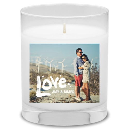 Full of Love Candle, Ocean Breeze, White