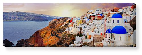 Sunset in Santorini Greece Canvas Print