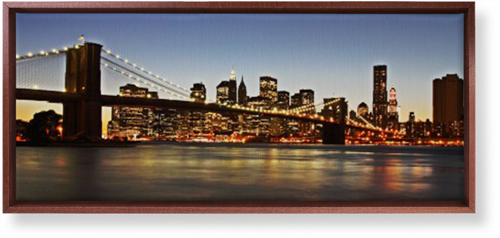 Gallery Panoramic Canvas Print, Brown, Single piece, 10 x 24 inches, Multicolor
