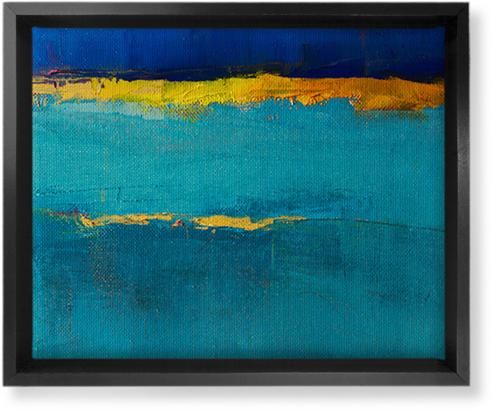 Abstract Watercolor Canvas Print, Black, Single piece, 8 x 10 inches, Multicolor