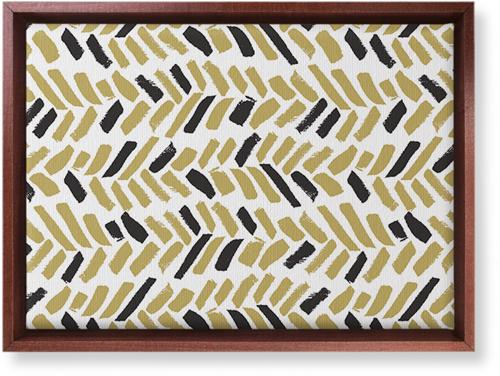 Herringbone Brushstroke Canvas Print, Brown, Single piece, 10 x 14 inches, Multicolor