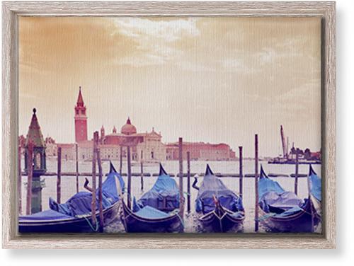 Venice Gondolas Canvas Print, CANVAS_FRAME_RUSTIC, Single piece, 10 x 14 inches, Multicolor