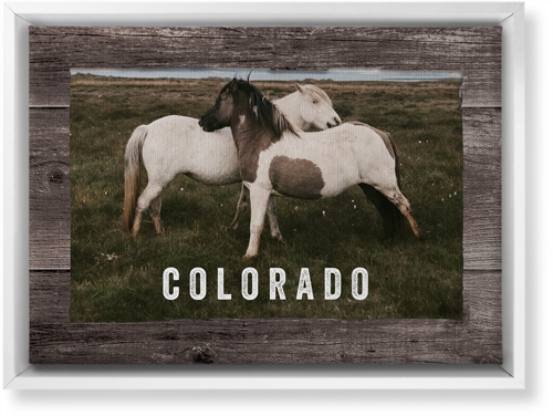 Weathered Wood Frame Horizontal Canvas Print, White, Single piece, 10 x 14 inches, Brown
