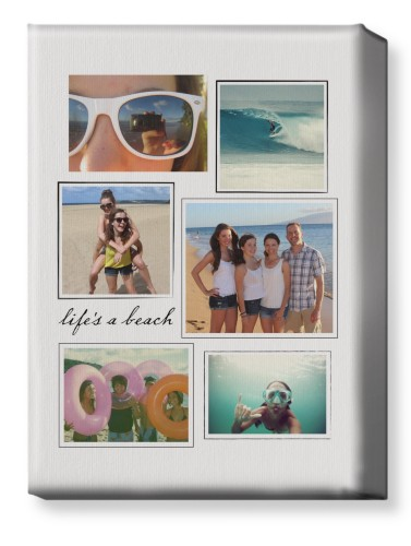 Framed Collage Canvas Print, None, Single piece, 10 x 14 inches, White