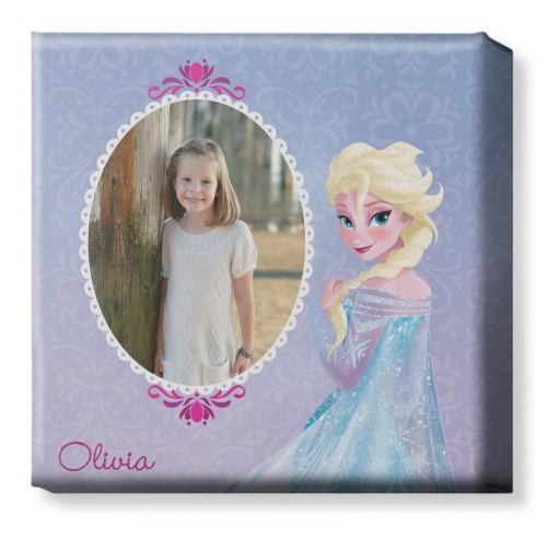 Disney Frozen Elsa Canvas Print, None, Single piece, 12 x 12 inches, Purple