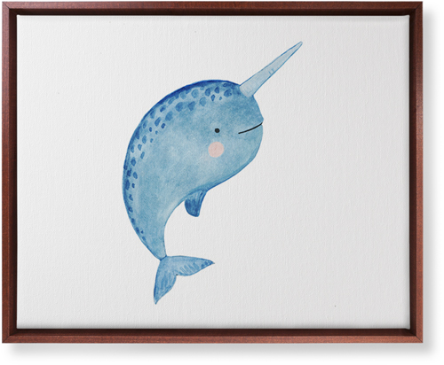 Narwhal Watercolor Canvas Print, Brown, Single piece, 16 x 20 inches, Multicolor