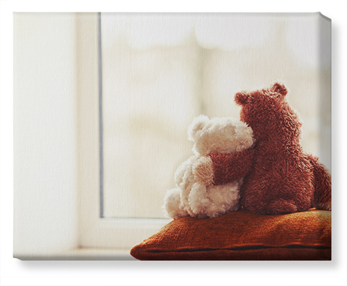 Bear Friends Canvas Print, None, Single piece, 16 x 20 inches, Multicolor